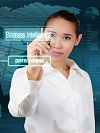 Business Intelligence and Data mining concept - business woman s